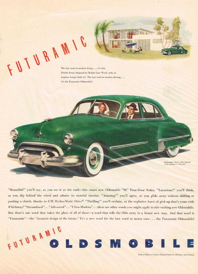 1948 Oldsmobile Futuramic Ad