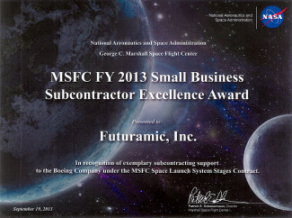 NASA MSFC FY 2013 Subcontractor Excellence Award