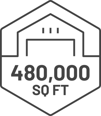 480,000 sq. ft. of manufacturing and assembly space Icon