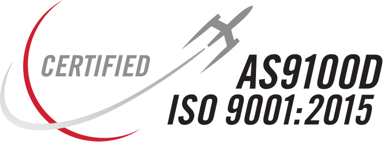 ISO 9001:2015 AND AS9100D In accordance with AS9104A logo
